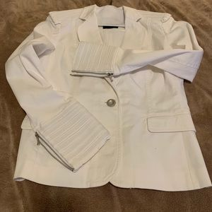 White Magaschoni Sport Structured Jacket